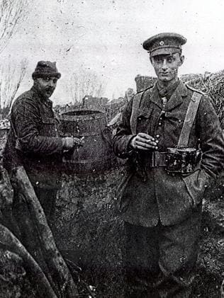 It has been reported that German soldiers had Christmas tree's lining their trenches. Picture: Supplied.