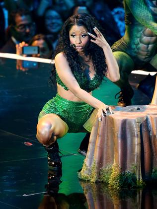 Not-quick-enough change artist Nicki Minaj onstage during the 2014 MTV Video Music Awards. Picture: Mark Davis