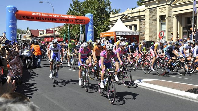 Stage 1 of the Tour Down Under begins in Prospect. Picture: Campbell Brodie