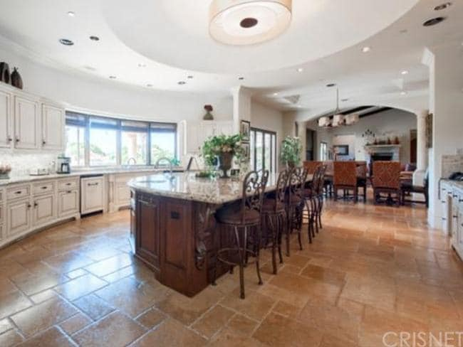 Cooking up feasts for their Brady Bunch-sized family will be easy in this huge chef's kitchen. Picture: Zillow.com.