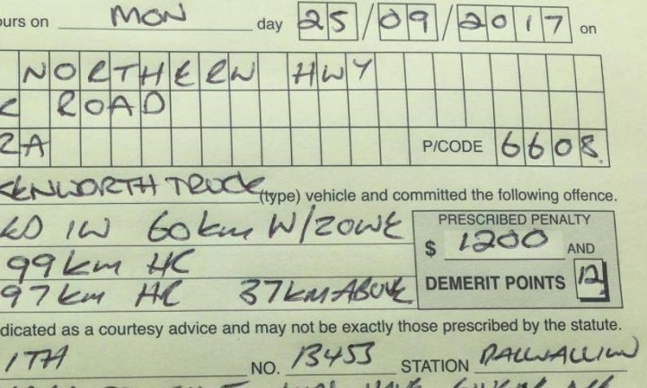 Dad's hilarious excuse for a $1200 speeding fine