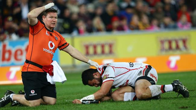 Konrad Hurrell was concussed on the weekend. Picture: Darren England