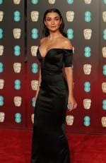 British actress Amy Jackson poses on the red carpet upon arrival at the BAFTA British Academy Film Awards at the Royal Albert Hall in London on February 18, 2018. Picture: AFP PHOTO / Daniel LEAL-OLIVAS