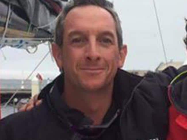 Rohan Arnold on board the GYR Wot Eva Yacht during the Sydney to Hobart.