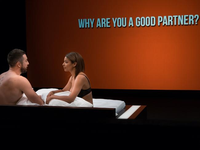 Undressed asks strangers to strip down to their underwear, and jump into bed to get to know one another.