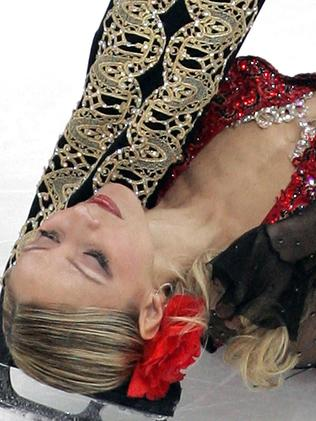Russian ice dancers Tatyana Navka won a gold medal at the Cup of Russia ISU Grand Prix figure skating event in St. Petersburg in November 2005. Picture: AFP / Yuri Kadobnov