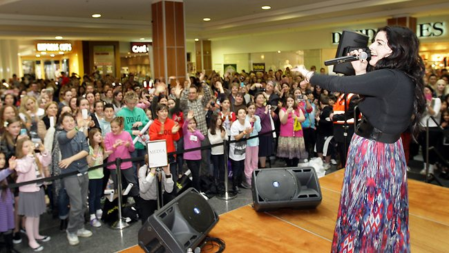 The Voice winner Karise Eden at Westfield Southland Picture: Fiona Hamilton
