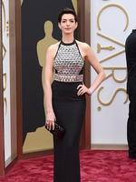 Anne Hathawayon the red carpet at the Oscars 2014. Picture: AP