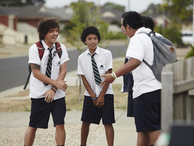 Chris Lilley (left) as Jonah in 'Jonah From Tonga'. Photo: ABC
