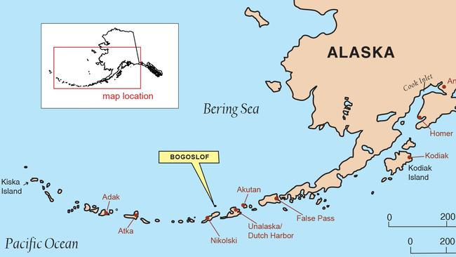 Index map showing the location of Bogoslof Volcano. Picture: Alaska Volcano Observatory