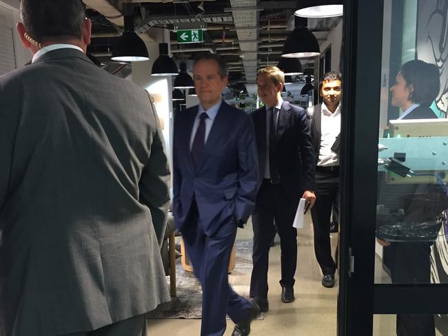 Bill Shorten arrives at Facebook debate