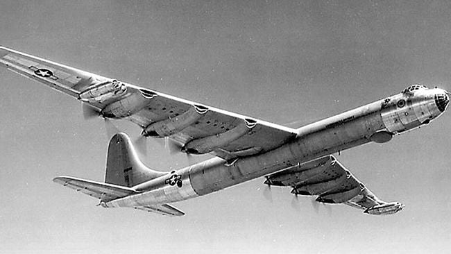 A US Air Force Convair B-36 Peacemaker bomber, the largest bomber ever built that crashed into remote British Columbia