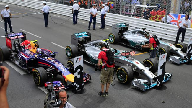 Mercedes's and Red Bull's cars swept the top three at Monaco.
