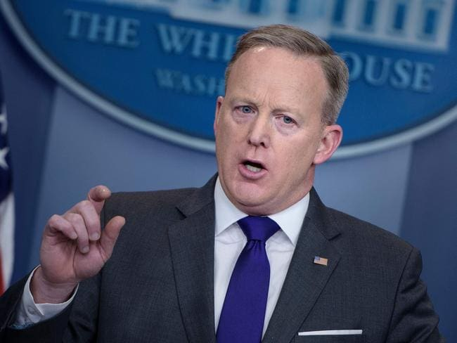 White House Press Secretary Sean Spicer has repeatedly listed Atlanta among the cities wracked by Islamist terror. Picture: AFP/Brendan Smialowski