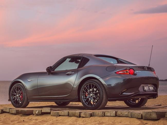 The hardtop roof on the MX-5 RF takes 13 seconds to raise or lower.
