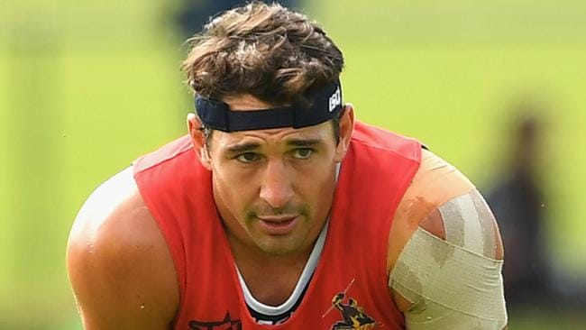 Billy Slater's shoulder is set to be tested out by the Storm.