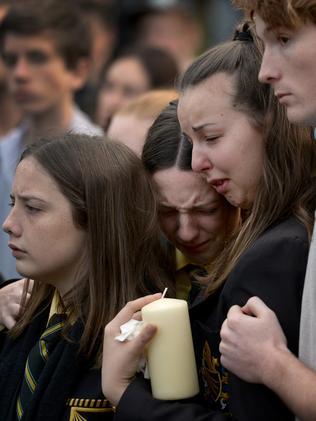 Many of the Eynesbury community were reduced to tears. Picture: Mike Keating.