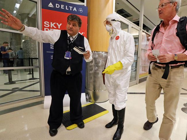 The Centres for Disease Control and Prevention say it is unlikely you will catch Ebola on a plane.