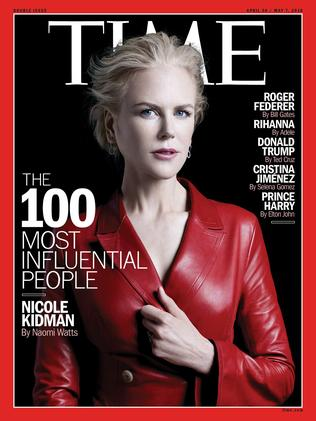 Nicole Kidman on the front cover. Picture: Peter Hapak/TIME