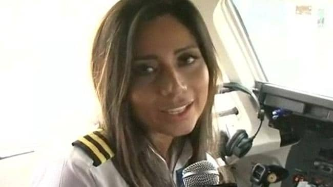 Co-pilot Sisy Arias spoke of her excitement in a video shot just moments before the plane took off.
