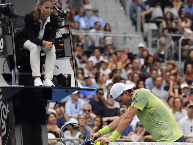 Berdych couldn't believe what was happening.