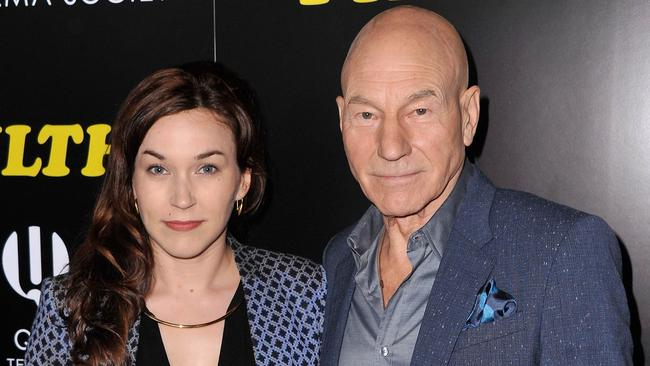 Loved up ... Patrick Stewart with his wife Sunny Ozell. Picture: Getty Images/AFP