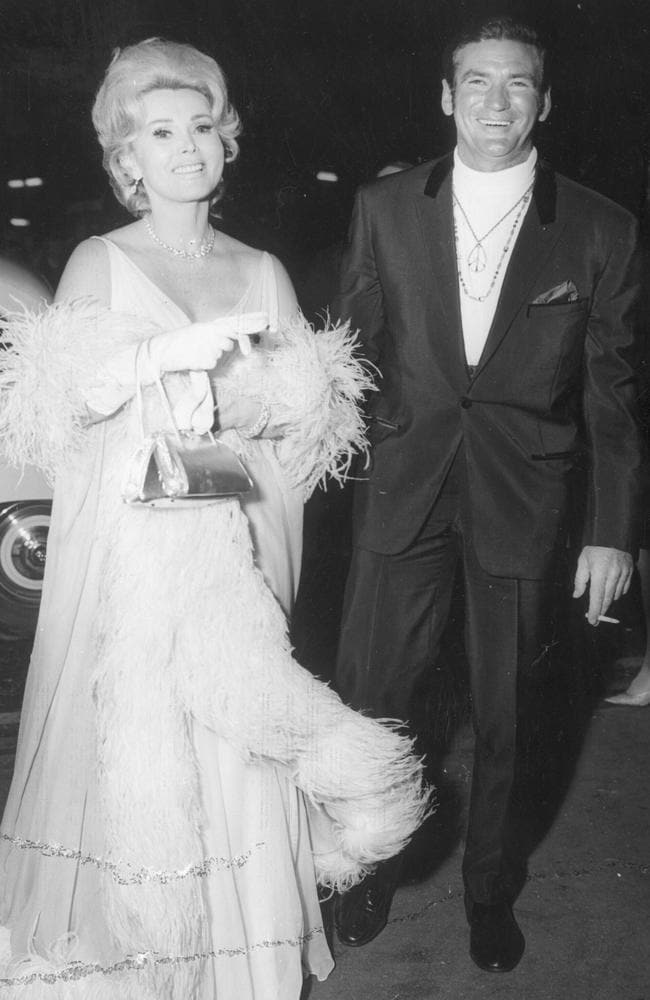 And out on the town with Zsa Zsa Gabor in October 1968.