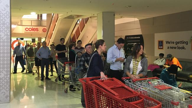 Shoppers in Sydney's Chatswood lined up well before doors opened at 8.30am.