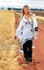 <p>Jen wears Sass & Bide. Picture: Alex Coppel</p>