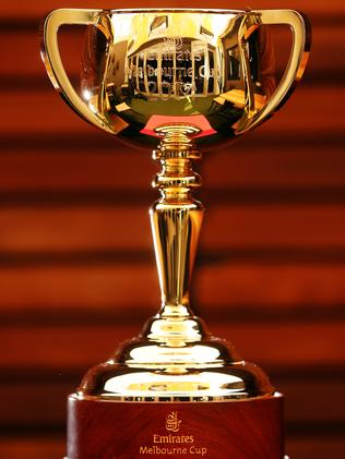The 2014 Melbourne Cup trophy.