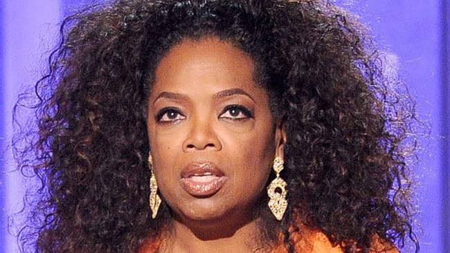 Surprising... Oprah Winfrey was Morgan's first guest and was circumspect when asked to judge his performance. Picture: Kevin Winter/Getty Images