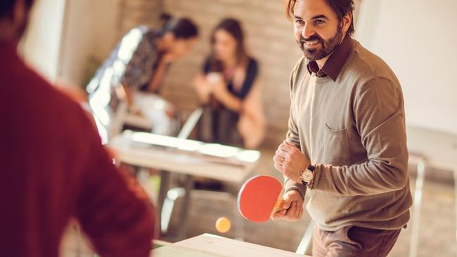 Ping pong tables and casual garb may be all the rage in advertising agencies but are they all that chilled out when it comes to promoting women? Picture: Getty