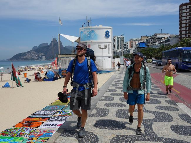 The guys started their journey in Rio de Janeiro. Picture: Discovery Channel