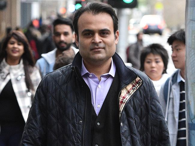 Pankaj Oswal leaves court in Melbourne. Picture: Julian Smith/AAP