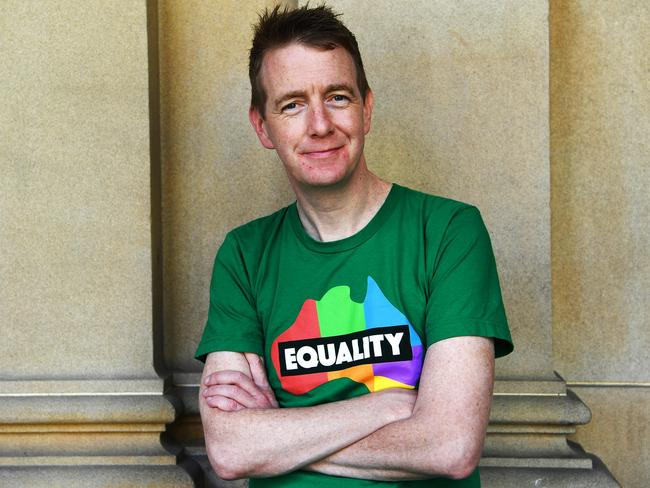 Irish marriage equality campaigner Tiernan Brady. Picture: AAP