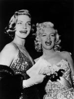 4th March 1954: Lauren Bacall and Marilyn Monroe share a joke. Picture: Getty