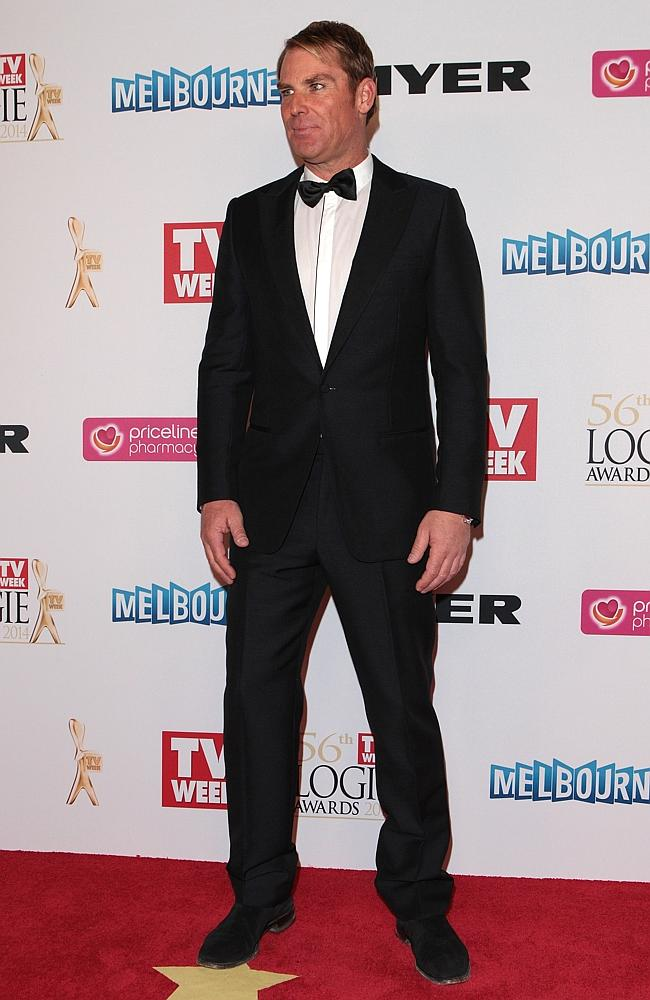 Shane Warne arrives at the 2014 Logie Awards