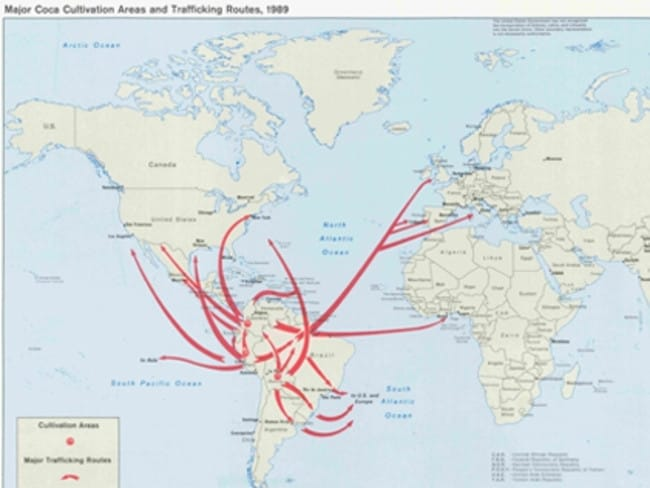 This map from 1989 is also among the declassified documents. Picture: CIA