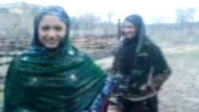 The Pakistani sisters who were shot for dancing in the rain. Picture: YouTube/screengrab