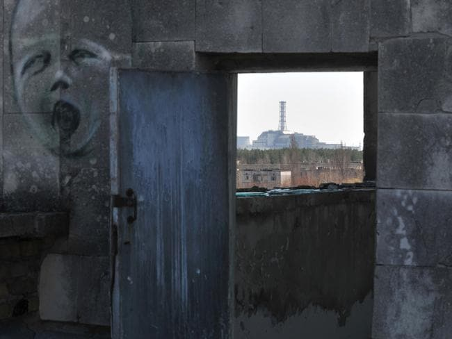 A view of the 4th power block of the Chernobyl Nuclear Power Plant. Chernobyl's radiation monitoring system has been affected by a cyber attack. Picture: AFP