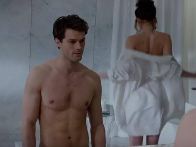 Current stars ... Jamie Dornan and Dakota Johnson in Fifty Shades of Grey.