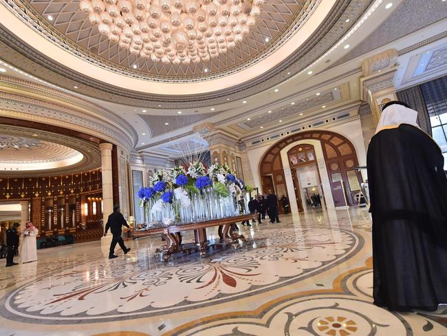 Riyadh's palatial Ritz-Carlton is reported to have morphed into a makeshift prison after the kingdom's unprecedented crackdown on the coddled elite. Picture: Giuseooe Cacace/AFP