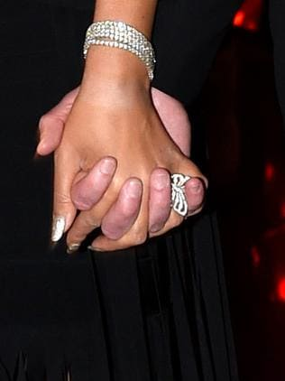 Mariah Carey was sporting a huge ring. Picture: Tony Gough
