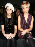 Sisters Peaches and Pixie Geldof attend the PPQ collection during 2008 London Fashion Week. Picture: Getty