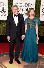 Harrison Ford and Calista Flockhart attend the 73rd Annual Golden Globe Awards held at the Beverly Hilton Hotel on January 10, 2016 in Beverly Hills, California. Picture: Jason Merritt/Getty Images/AFP
