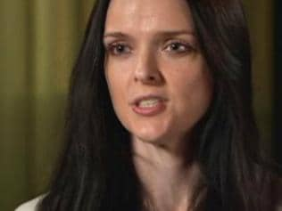 Amber Harrison on ABC 7.30. Pic: ABC