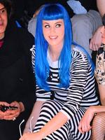 <p>And, the other half of the hair power-couple, Katy Perry, regularly accessories her look with green, pink, purple and blue wigs. Picture: Snappermedia</p>