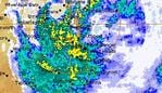 bom weather map debbie brisbane