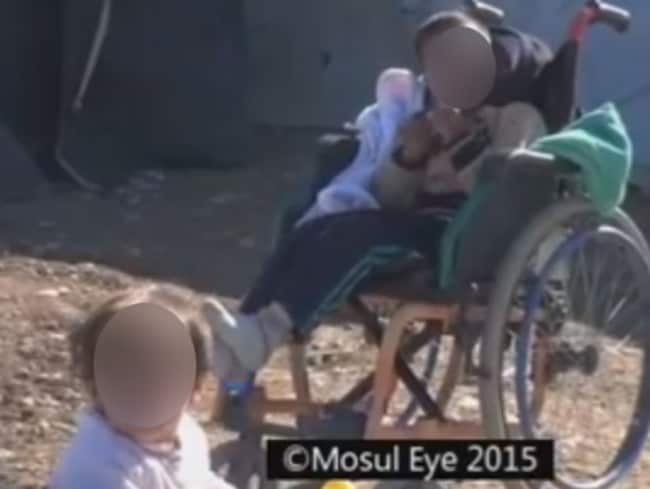 "Militants have reportedly been ordered to ""kill newborn babies with Down syndrome and congenital deformities and disabled children"". Picture: Screengrab/Mosul Eye."