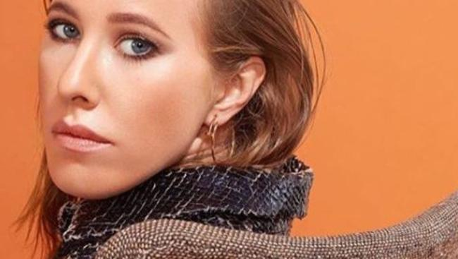 Ksenia Sobchak has denied being Putin's goddaughter, saying she wants to end Russia's 'super presidential' system. Picture: Instagram